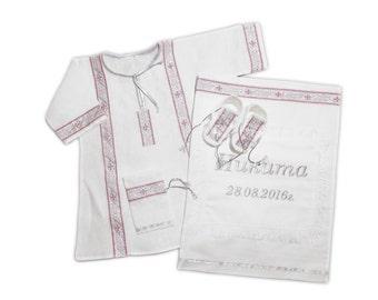 Christening set (Baptismal)  Clothing for baptismal  religion cross