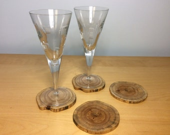 Driftwood Coasters set of 4
