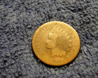 1867 INDIAN HEAD CENT - Variety 2 - Bronze  - Better Date!