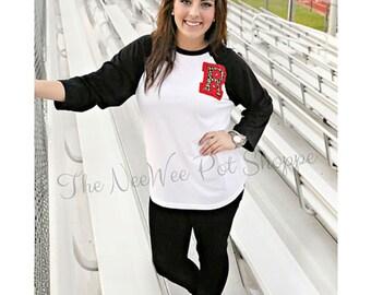 School Spirit Baseball Tee// Football Mom Shirt// School Pride Tee// Baseball Tee// Leopard Print Tee