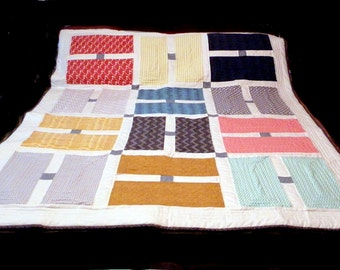 Modern H Lap Quilt