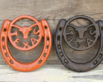 Texas Longhorn Horseshoe