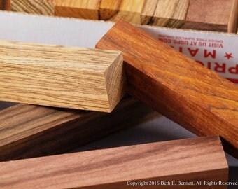 Pen Turning Blanks - Exotic Wood Mix