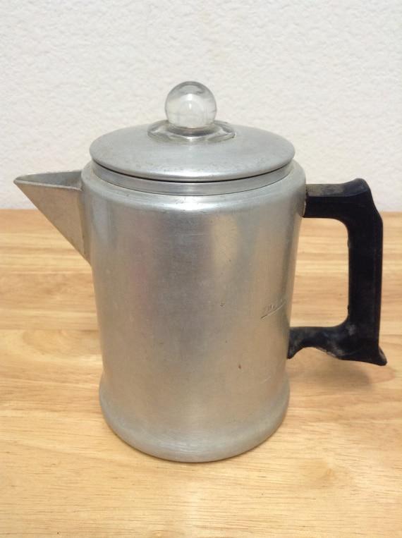 Mirro Percolator Coffee Maker : Mirro 2 Cup 1/2qt Coffee Pot Vintage Aluminum Percolator