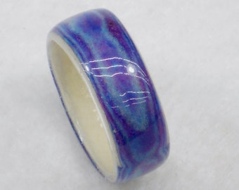Variations in Purple Wrapped Paper Ring