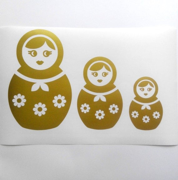 wall decals russian nesting doll decal by moapartystickers