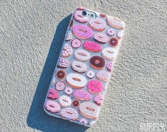 iPhone 6/6s Case - Donuts - Food, Pastel, Donut Phone Case, Bright, Fun, Vibrant, Retro, Fitness, Health, Cute, Art, Design, Illustration,