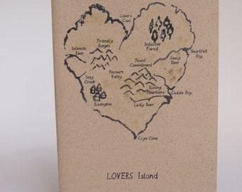 Greeting Card - lovers island