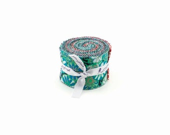 """Amy Butler - True Colors Design Roll - 20 2.5"""" strips quilting cotton freespirit precut quilting flowers jelly roll red blue fb3drab.truec"""