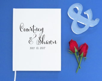 Wedding Guest Book, Wedding Guestbook Custom Guest Book Personalized Wedding Guest book, Guest book Sign in, wedding gift keepsake, WCP03