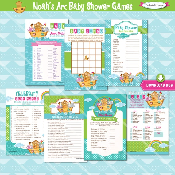 Noah's Arc Baby Shower Games: Bingo Cards Price Is Right