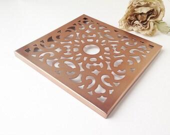 High Quality Copper Tone Decorative Metal Cover / Decorative Copper Tile / Copper Decor  / Decorative Metal Tile