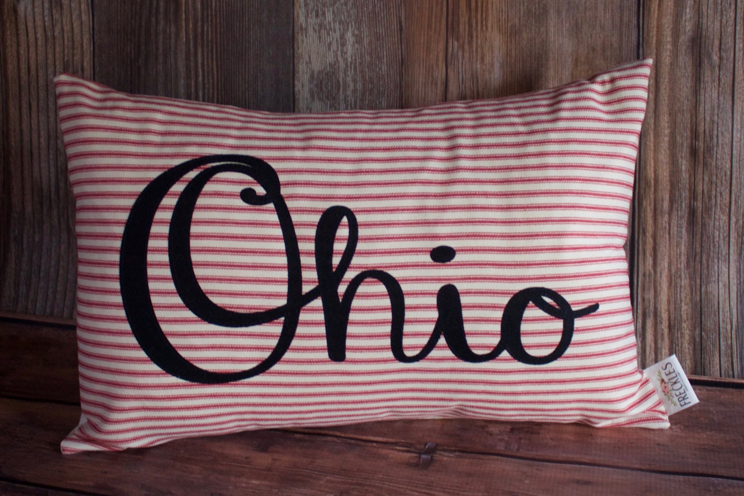 Ohio State Pillow Dorm Room Decor State Pillows Man Cave