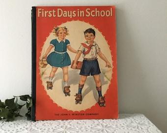 1942 First Days In School Activity Book