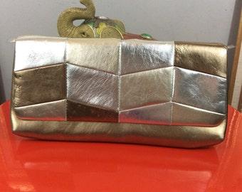 Vintage Metallic Clutch