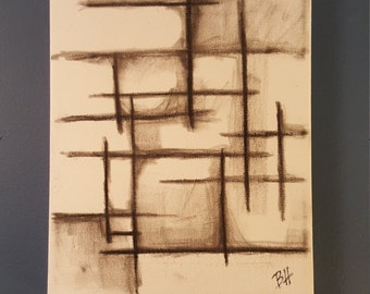 """10"""" x 8"""" charcoal drawing on canvas"""