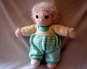 Georgie Handmade Knitted Dressed Doll Soft Stuffed Toy