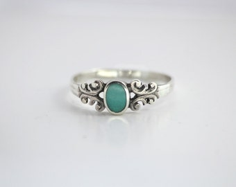 Turquoise Gem Stackable Ring