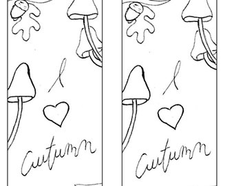 Bookmarks to the coloring pages
