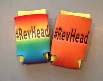 embroidered #RevHead beverage holder