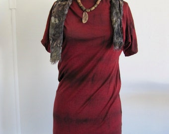 red eco plant dyed dress