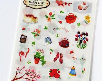 Happy Life Deco Stickers