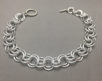 """8"""" Simple Silver Chain Bracelet, For Charms"""