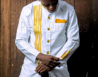 Embroided shirt/Colorful Mens shirt/embroidery African shirt/Jolomie design for men/African high fashion/African wear/trendy African style