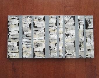 Original Abstract Art, Birch Trees