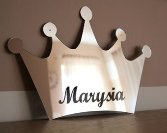 Personalized acrylic mirror for kids room, nursery room