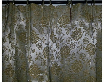 Vintage pale yellow curtains