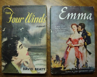 Vintage Novels 1950s Lot of Two Hardbacks with Dust Jackets
