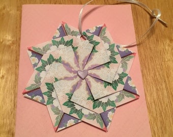 paper folded flower card
