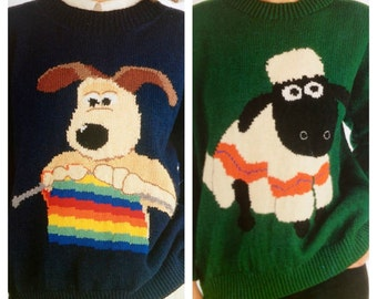 Vintage Pattern Shaun the Sheep and Gromit from Wallace and Gromit Jumpers PDF Download