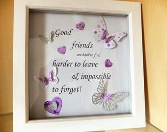 "Good Friends Box Frame 9""x9"""