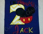 I'm Twodles Mickey Mouse/2nd Birthday/Boys