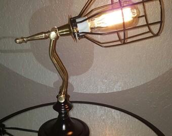 Steampunk Lamp, industrial lamp, steampunk, industrial, vintage lighting