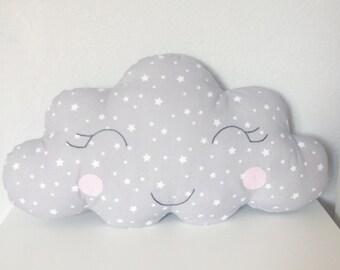 Cushion star grey cloud