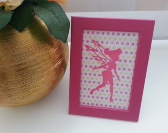 Print and frame outline of fairy Tinkerbell
