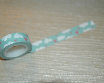 Cloud with hearts washi tape