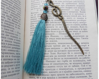 Handmade Bookmark Original Design Metal and crystal Bookmark with Beading Fashionable Stationery Accessories for Jewellery Gifts