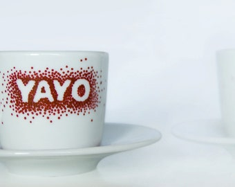 Coffee cup customized with name