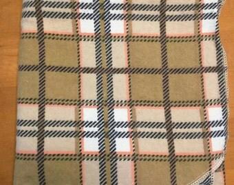Plaid receiving blanket