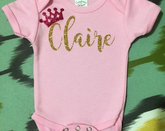 Personalized Princess Onesie