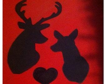 Couple's deer sign