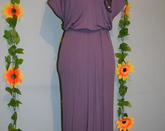 fab vintage 70s does 20s sequin dress with matching purse