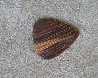 Exotic Marble Wood Instrument Pick. FREE SHIPPING !!!