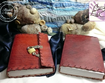 Handmade Smooth Leather Private Journal with Fully Functional Key-Operated Metal Lock