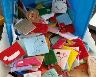 Felties - grab bag of felties - 30 piecies - 30 random felties - hair bow centers - felt - bow centers -