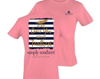 Simply Southern Prep Feather T-shirt